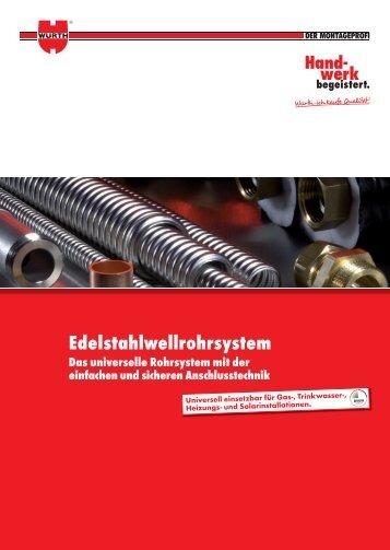 Edelstahlwellrohrsystem - Adolf Würth GmbH & Co. KG