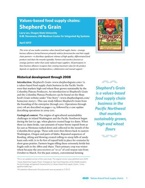 Shepherd's Grain - Center for Integrated Agricultural Systems