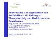 Zubereitung und Applikation von Antibiotika - 8. Tag der Hygiene