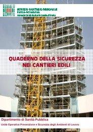 Quaderno della sicurezza nei cantieri edili Revisione2
