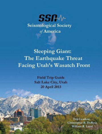 Field Trip Guide - Seismological Society of America