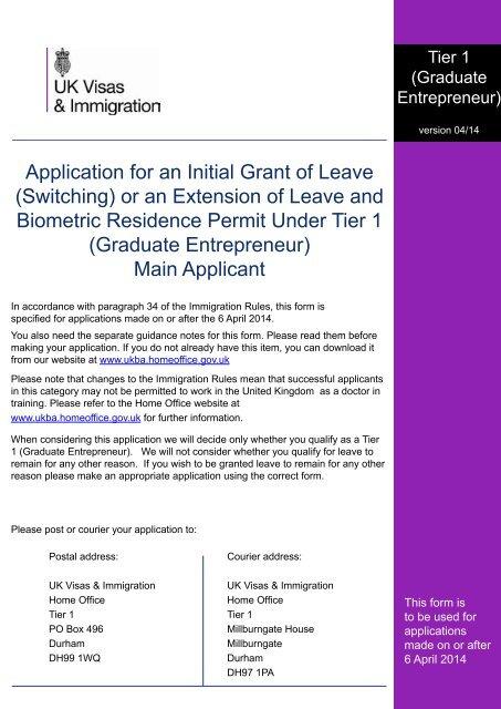 ukba tier 2 application form