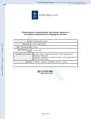Physiological, morphological and kinetic aspects of lovastatin ...