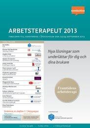 ARBETSTERAPEUT 2013 T 2013 - Conductive