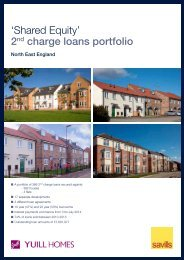Yuill Homes, Shared Equity Portfolio - Savills