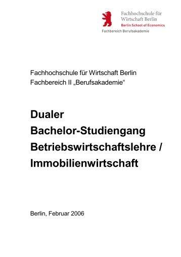 Dualer Bachelor-Studiengang Betriebswirtschaftslehre ...