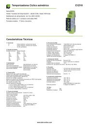 E1ZI10 Temporizadores Cíclico asimétrico Características Técnicas