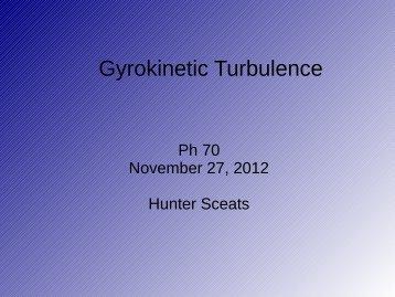 Gyrokinetic Turbulence