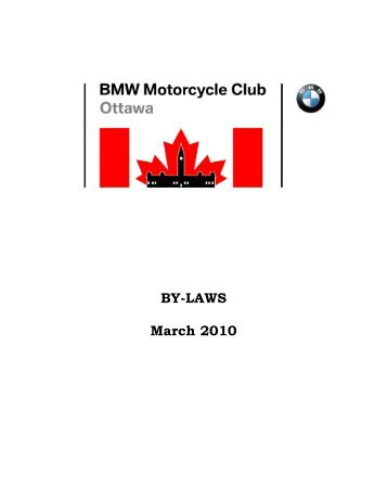 By-Laws Final March 2010 - BMW Motorcycle Club of Ottawa Canada