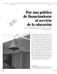 Por una política de financiamiento al servicio de ... - Revista Docencia