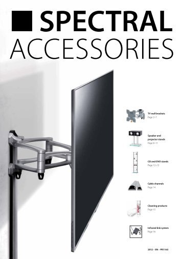 TV wall brackets Page 2–7 Speaker and projector stands Page 8–11 ...