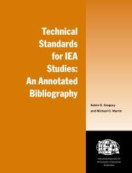 Technical Standards for IEA Studies: An Annotated Bibliography