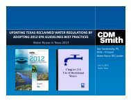 Updating Texas Reclaimed Water Regulations by Adopting 2012 ...