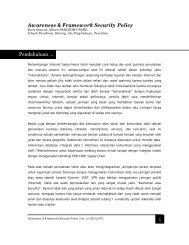 1 Awareness & Framework Security Policy Pendahuluan ... - Sharing