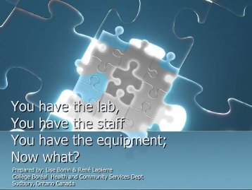 You Have The Lab, You Have The Staff