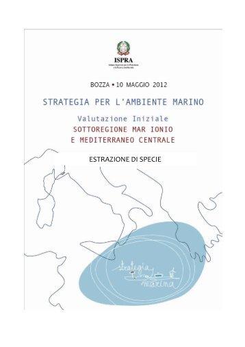 7.1 medcen_Estrazione di specie.pdf - La strategia marina - Ispra