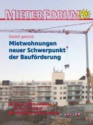 Mietwohnungen neuer Schwerpunkt der Bauförderung Mietwohnungen ...