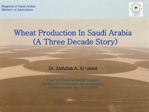 Wheat Production in Saudi Arabia - International Food