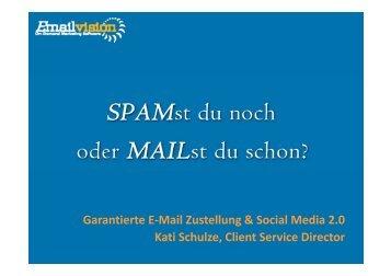 Garantierte E-Mail Zustellung & Social Media ... - Marketing on Tour
