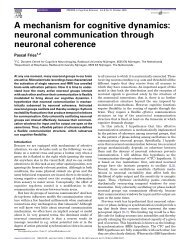 A mechanism for cognitive dynamics - Systems Neuroscience