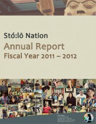 2011-2012 Annual Report - Sto:lo Nation
