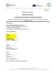 Obchodní podmínky Rámcová smlouva na poskytování ... - Biocev