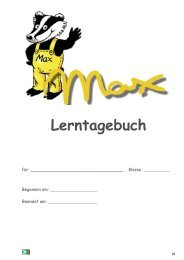 Max-Lerntagebuch (PDF) - K2-Verlag