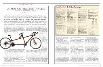 NOV/DEC AC 2003 - Co-Motion Cycles