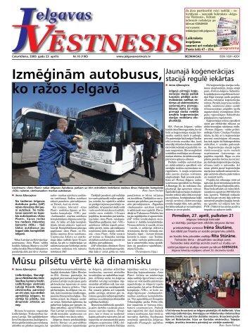 2009. gada 23. aprīlis. Nr.16(100) - Jelgavas Vēstnesis
