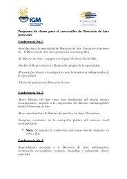 Programa de clases para el curso-taller de Dirección de Arte para ...