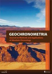 GEOCHRONOMETRIA - Versita