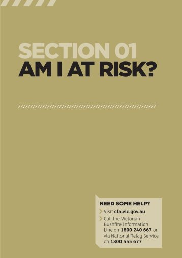 Am I at risk? Fire Ready Kit, section 1