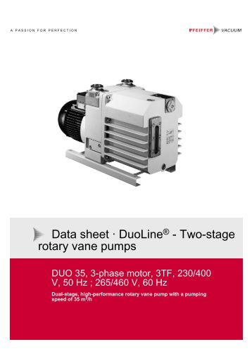 Vacuum Blower Data Sheet : Technical information s
