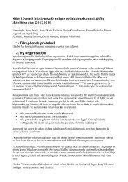 protokoll från möte 18/10 2012 - Svensk Biblioteksförening