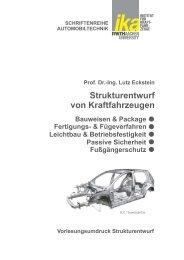 Strukturentwurf von Kraftfahrzeugen - ika - RWTH Aachen University