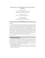 Falling Trade Costs, Heterogeneous Firms, and Industry Dynamics*