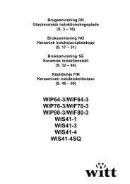 Installation WIS41-3 - Witt Hvidevarer A/S