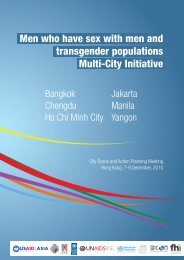 Men who have sex with men and transgender populations Multi-City ...