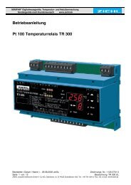 Betriebsanleitung Pt 100 Temperaturrelais TR 300 - Ziehl industrie ...
