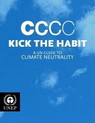 Kick the Habit: A UN Guide to Climate Neutrality. - Greening the Blue