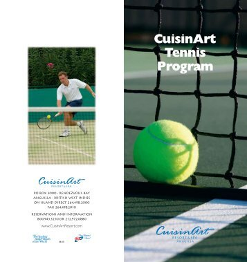 Tennis Brochure - CuisinArt Resort & Spa