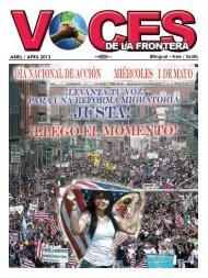 ABRIL / APRIL 2013 - Voces De La Frontera