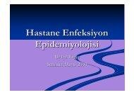Hastane Enfeksiyon Epidemiyolojisi - Halk Sağlığı AD, Ege ...
