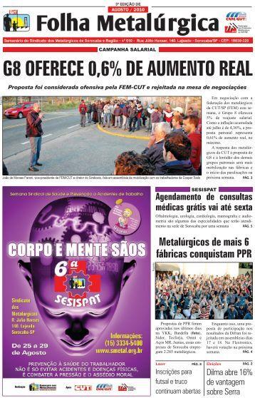 Nº 610 - Sindicato dos Metalúrgicos de Sorocaba e Região