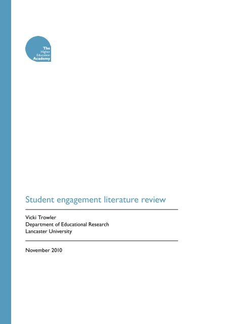student engagement literature review trowler