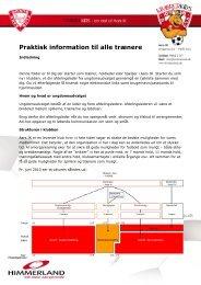Praktisk information til alle trænere - Aars IK