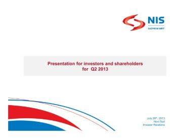Q2 2013 - Investor Relations - NIS