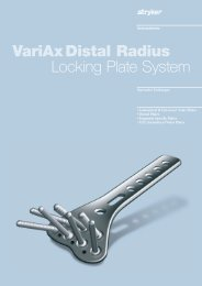 VariAxDistal Radius Locking Plate System - Stryker