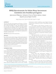 BISQ Questionnaire for Infant Sleep Assessment: translation into ...