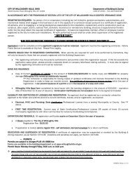 Contractor Registration Packet - Willoughby Hills